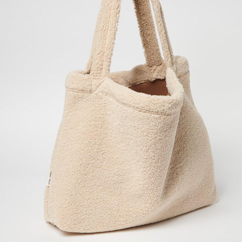 Studio Noos Mom-Bag Chunky Teddy Ecru Seite bei Yay Kids