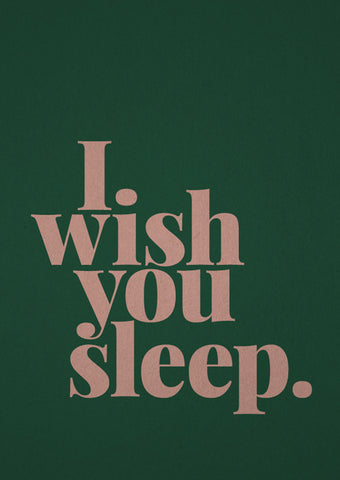 Card I wish you sleep