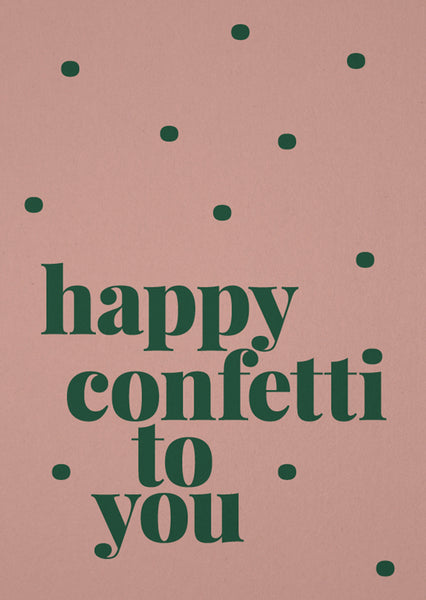 Card happy confetti to you