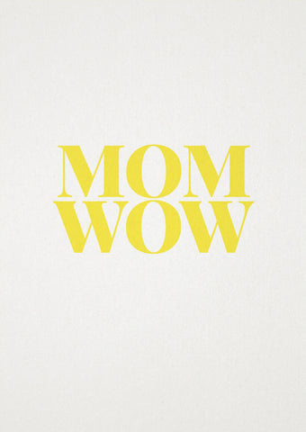 "tadah Postkarte ""MOM WOW"" bei Yay Kids"
