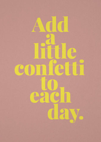 "tadah Postkarte ""Add a little confetti to each day."" bei Yay Kids"