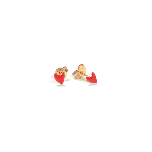 Earrings Heart Red