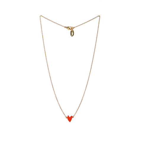Necklace Heart Red
