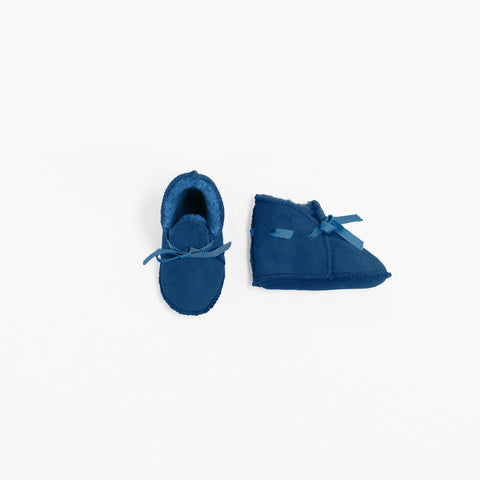 Toasties Paris Baby Lammfell Finken Booties Jeans Blau bei Yay Kids