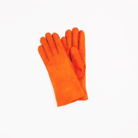 Toasties Paris Frauen Leder Handschuhe in Orange bei Yay Kids