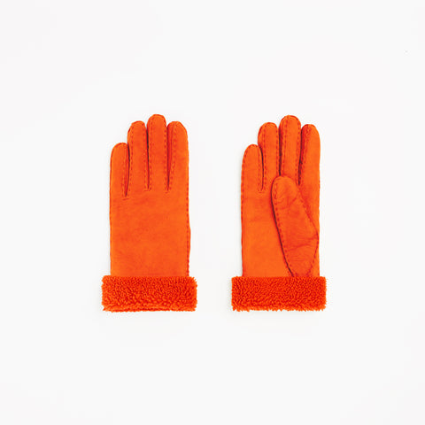 Toasties Paris Frauen Lammfell Handschuhe in Orange bei Yay Kids