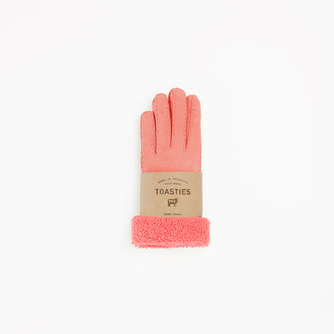Toasties Paris Frauen Fell Handschuhe in Rosa bei Yay Kids