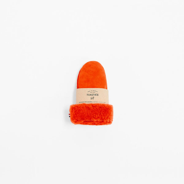 Toasties Paris Kinder Lammfell Handschuhe in Orange bei Yay Kids