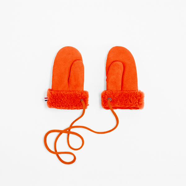 Toasties Paris Kinder Fell Winter Handschuhe in Orange bei Yay Kids
