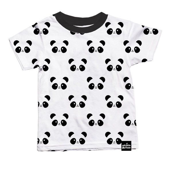 Whistle & Flute Kinder T-Shirt Panda Allover Bio-Baumwolle bei Yay Kid...