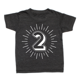 Whistle & Flute Kinder T-Shirt Milestone Numbers 2 Jahre bei Yay Kids