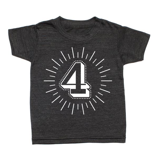 Whistle & Flute Kinder T-Shirt Milestone Numbers 4 Jahre bei Yay Kids