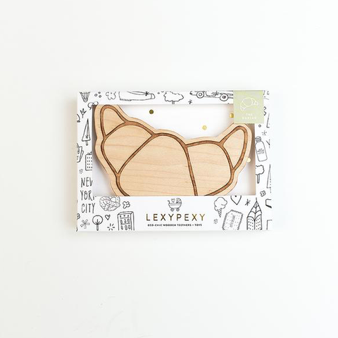 Lexypexy Baby Beissring aus Holz Croisssant bei Yay Kids