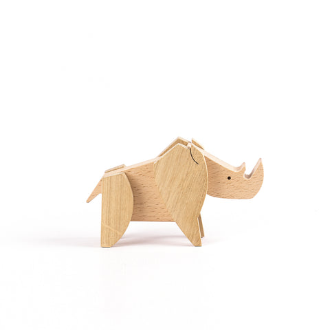 Wooden Puzzle Rhino