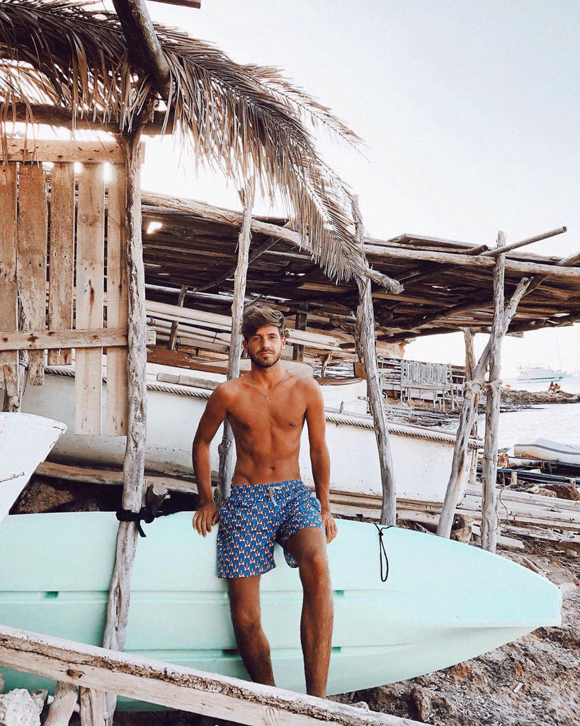 Marcos Soler in the Benibeca best seller male swimshorts