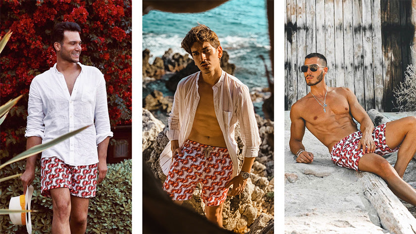 Influencers in the Benibeca top seller male swimshorts