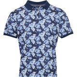 North 56°4 / Replika Jeans (Big & Tall) North 56°4 Flower printed polo Polo SS 0930 Printed