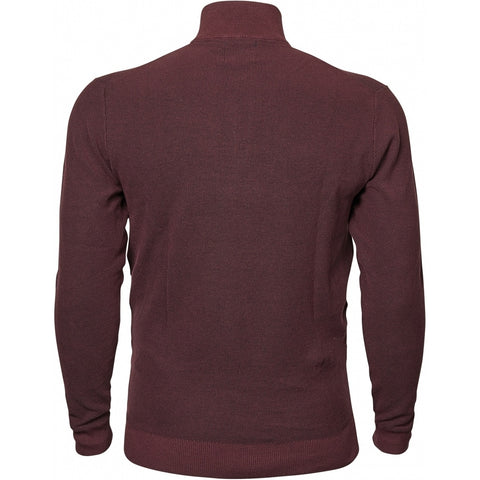 North 56°4 / Replika Jeans (Big & Tall) North 56°4 Half zip knit Knit 0370 Aubergine