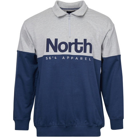 North 56°4 / Replika Jeans (Big & Tall) North 56°4 Half zip sweat Sweatshirt 0580 Navy Blue