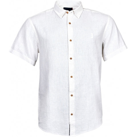 North 56°4 / Replika Jeans (Big & Tall) North 56°4 Linen shirt S3 Shirt SS 0000 White