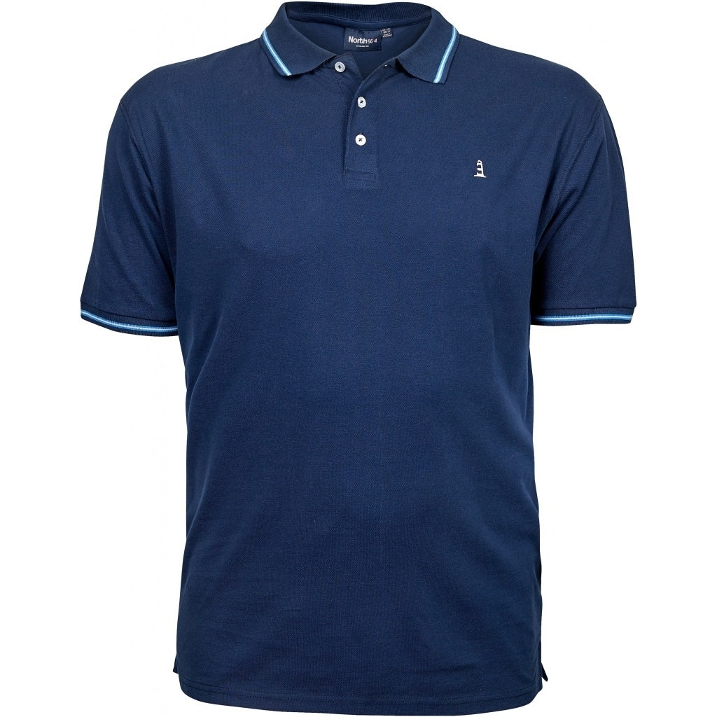 North 56°4 / Replika Jeans (Big & Tall) North 56°4 Pique polo Polo SS 0580 Navy Blue