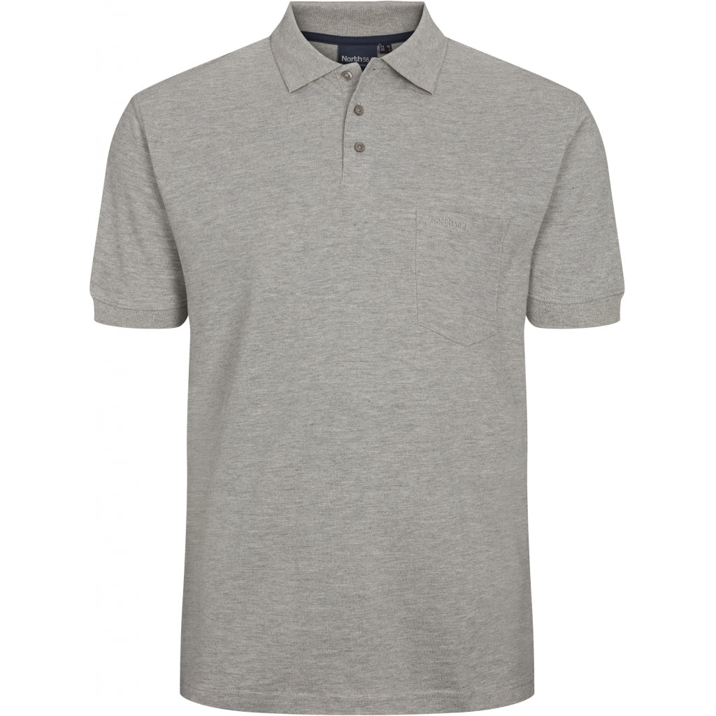 North 56°4 / Replika Jeans (Big & Tall) North 56°4 Polo TALL Polo SS 0050 Grey Melange