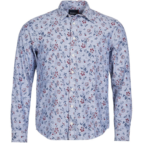North 56°4 / Replika Jeans (Big & Tall) North 56°4 Printed shirt Shirt LS 0580 Navy Blue