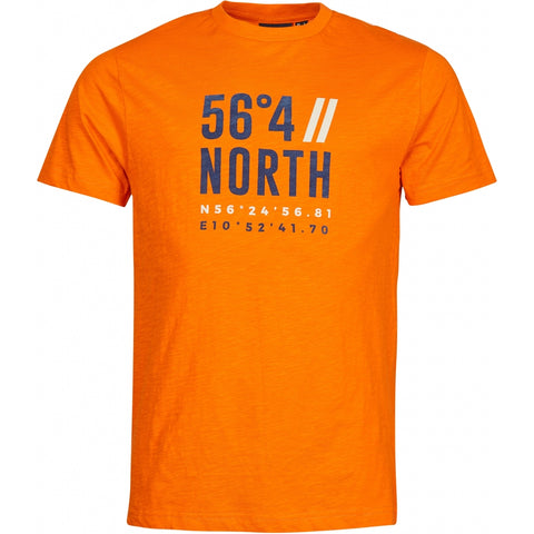 North 56°4 / Replika Jeans (Regular) North 56°4 Printed t-shirt T-shirt 0200 Orange