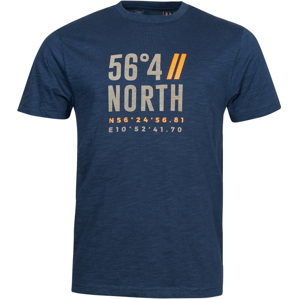 North 56°4 / Replika Jeans (Big & Tall) North 56°4 Printed t-shirt TALL T-shirt 0580 Navy Blue