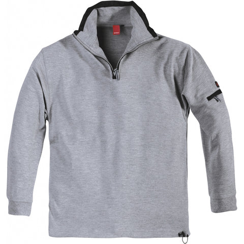 North 56°4 / Replika Jeans (Big & Tall) North 56°4 SPORT Ottoman sweat TALL Sweatshirt 0040 Mid Grey