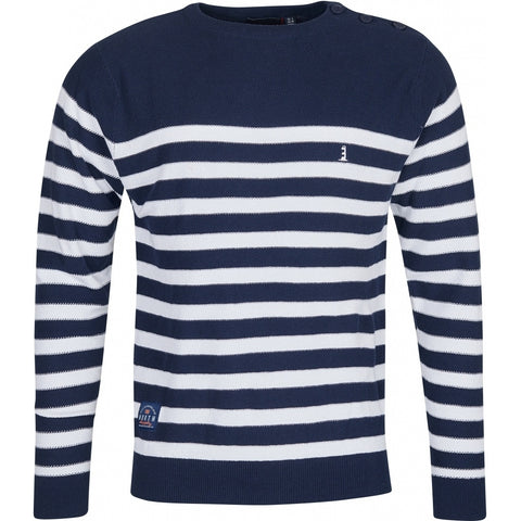 North 56°4 / Replika Jeans (Big & Tall) North 56°4 Striped Knit Knit 0580 Navy Blue