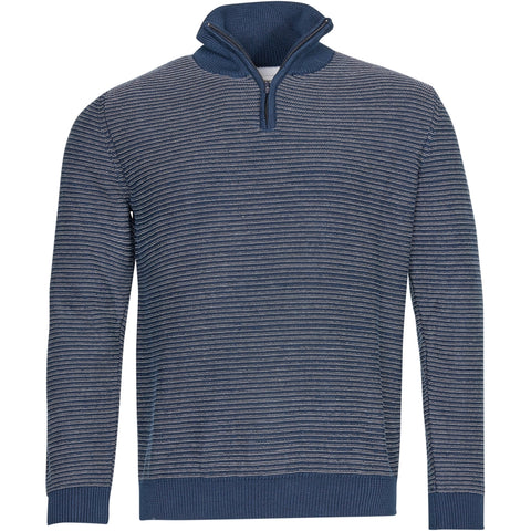 North 56°4 / Replika Jeans (Big & Tall) North 56°4 Striped ½ Zip Knit GOTS Knit 0910 Striped
