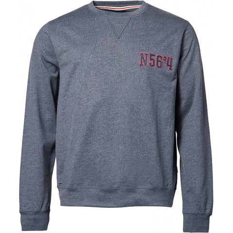North 56°4 / Replika Jeans (Regular) North 56°4 Sweatshirt Sweatshirt 0555 Blue Melange