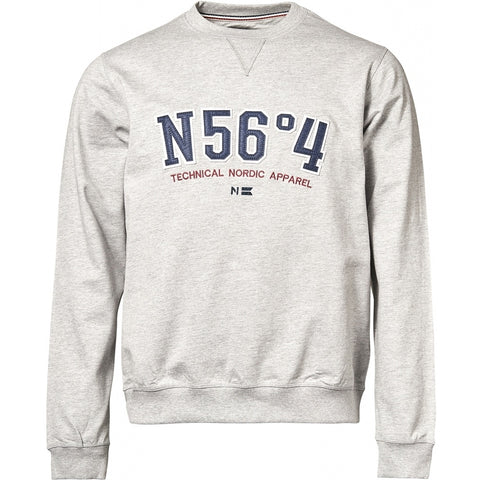 North 56°4 / Replika Jeans (Big & Tall) North 56°4 Sweatshirt TALL Sweatshirt 0050 Grey Melange