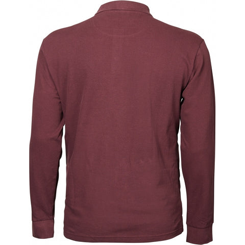 North 56°4 / Replika Jeans (Big & Tall) North 56°4 Pique Polo L/S Polo LS 0370 Aubergine