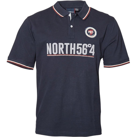 North 56°4 / Replika Jeans (Regular) North 56°4 Polo S/S Polo SS 0580 Navy Blue