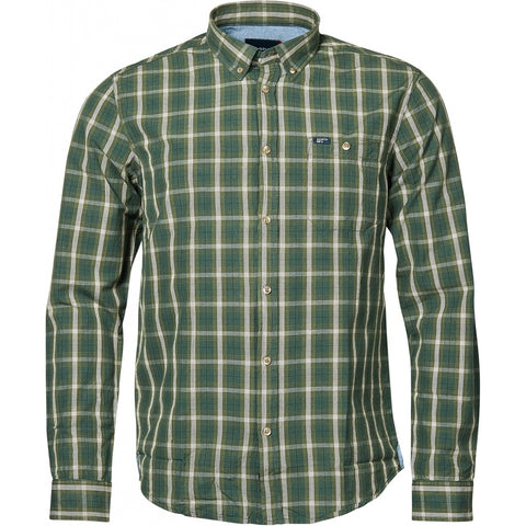 North 56°4 / Replika Jeans (Regular) North 56°4 Checked shirt L/S Shirt LS 0680 Dark Green