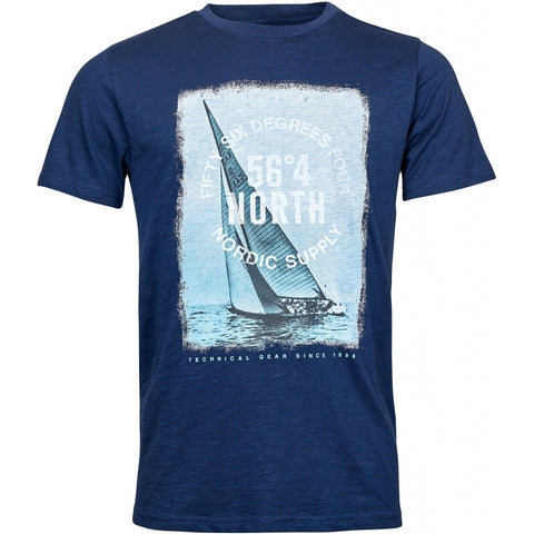 North 56°4 / Replika Jeans (Regular) North 56°4 Printed T-shirt S/S T-shirt 0580 Navy Blue