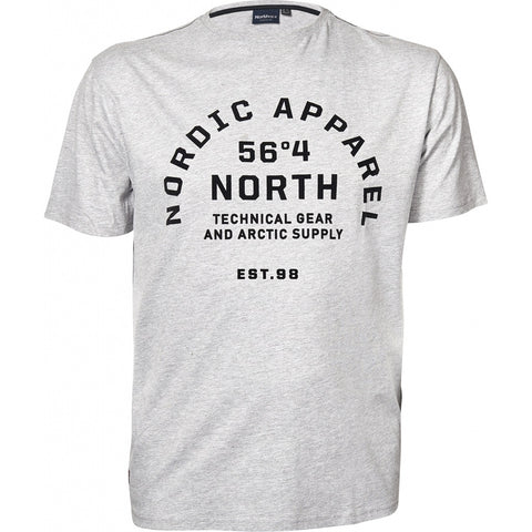 North 56°4 / Replika Jeans (Big & Tall) North 56°4 Printed T-shirt S/S T-shirt 0050 Grey Melange