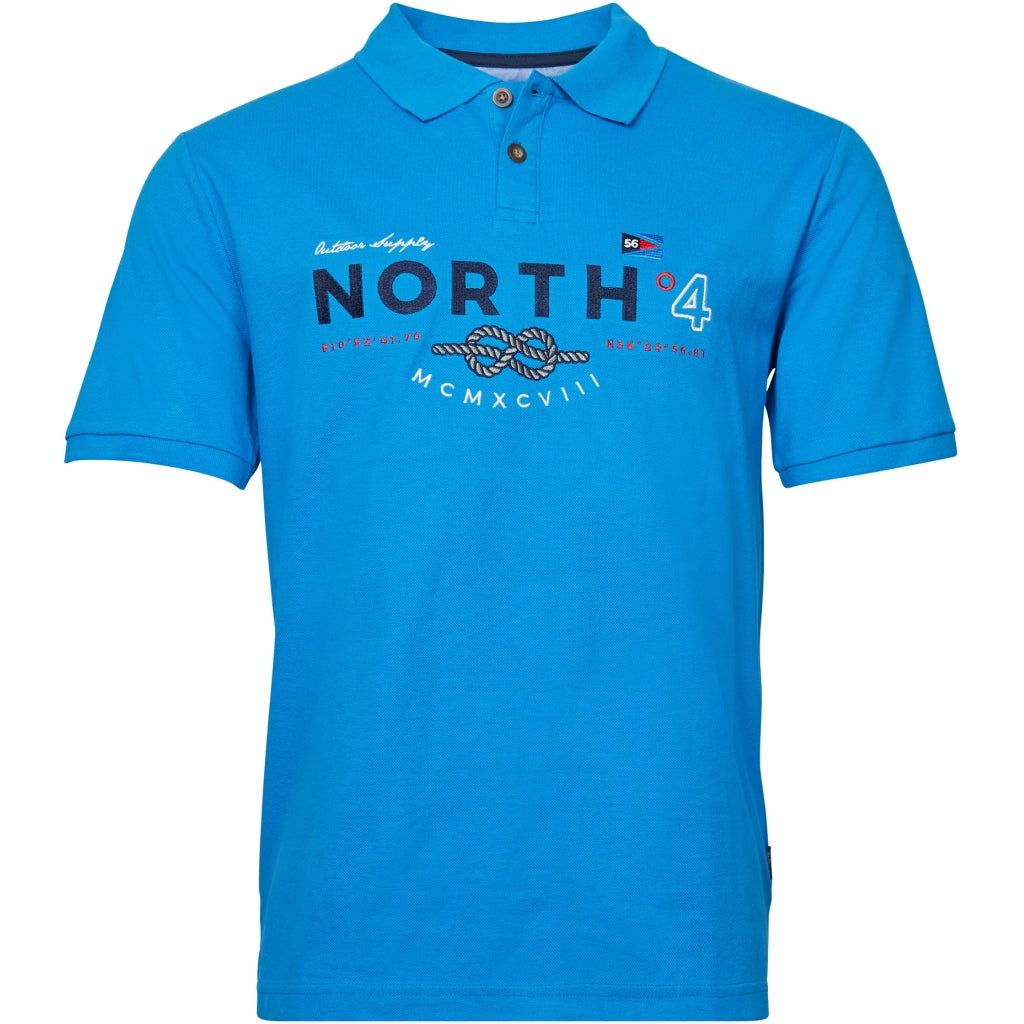 North 56°4 / Replika Jeans (Big & Tall) North 56°4 Polo w/big embrodery Tall Polo SS 0522 Skyway