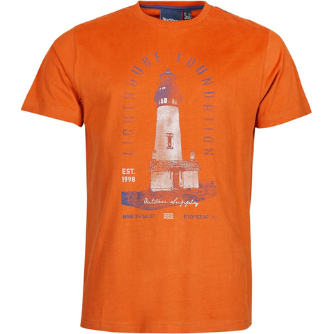North 56°4 / Replika Jeans (Regular) North 56°4 Printed t-shirt T-shirt 0201 Terracotta/burned orange