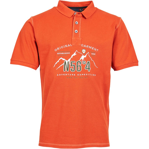 North 56°4 / Replika Jeans (Regular) North 56°4 Polo w/embroidery Polo SS 0201 Terracotta/burned orange