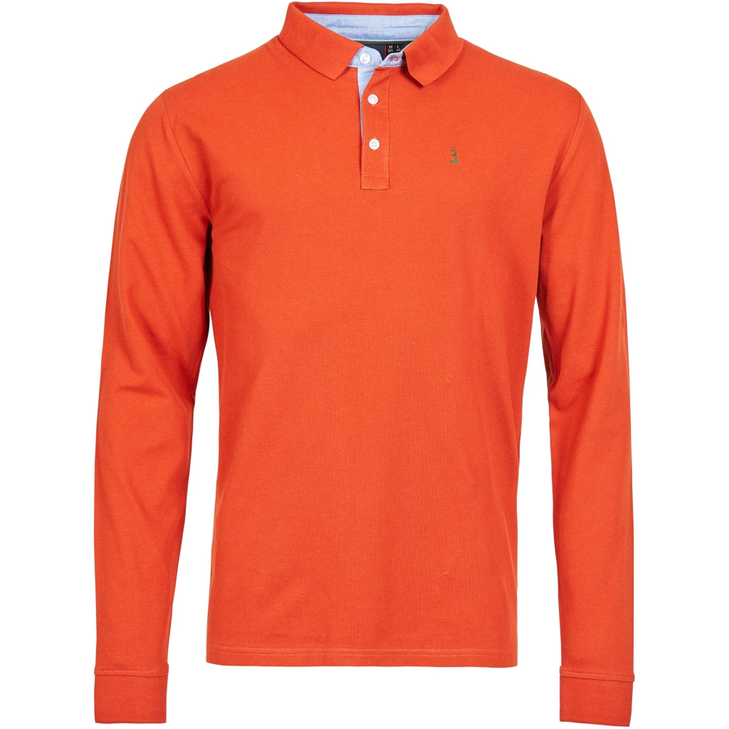 North 56°4 / Replika Jeans (Big & Tall) North 56°4 Polo L/S Polo LS 0201 Terracotta/burned orange