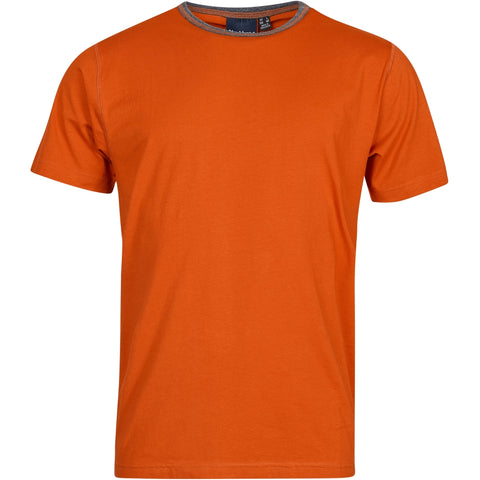 North 56°4 / Replika Jeans (Big & Tall) North 56°4 T-shirt w/contrast T-shirt 0201 Terracotta/burned orange