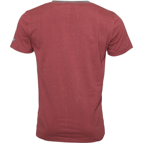 North 56°4 / Replika Jeans (Big & Tall) North 56°4 T-shirt w/contrast T-shirt 0360 Wine Red