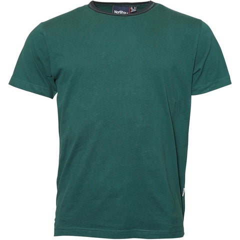 North 56°4 / Replika Jeans (Big & Tall) North 56°4 T-shirt w/contrast T-shirt 0680 Dark Green