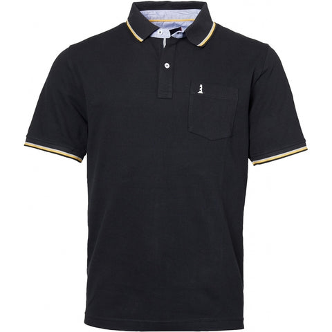 North 56°4 / Replika Jeans (Big & Tall) North 56°4  Polo w/contrast on collar TALL Polo SS 0099 Black