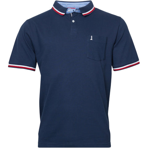 North 56°4 / Replika Jeans (Big & Tall) North 56°4 Polo w/contrast on collar TALL Polo SS 0580 Navy Blue