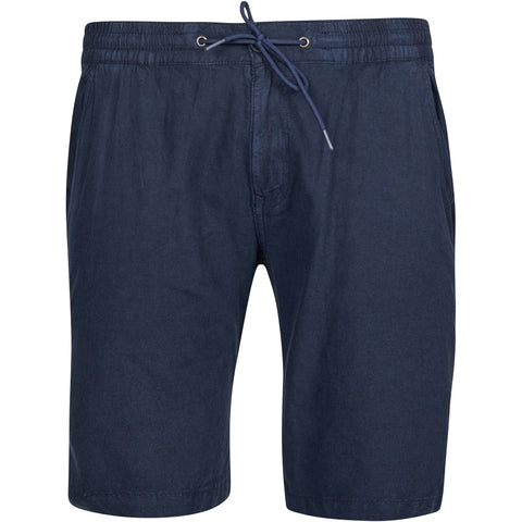 North 56°4 / Replika Jeans (Big & Tall) North 56°4 Linen shorts w/elastic waist Shorts 0580 Navy Blue