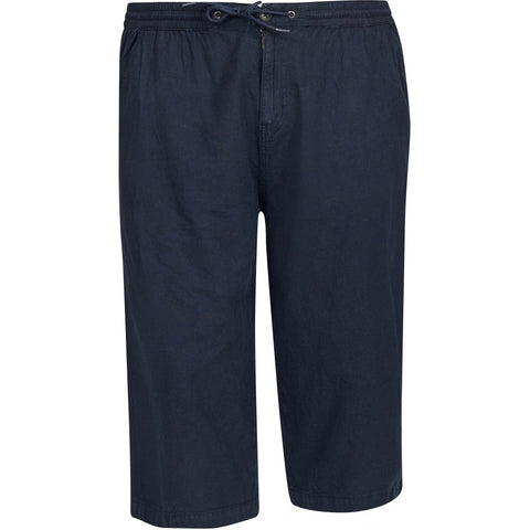 North 56°4 / Replika Jeans (Big & Tall) North 56°4 Linen capri w/elastic waist Shorts 0580 Navy Blue
